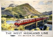 The West Highland Line, Lochy Viaduct. BR Vintage Travel Poster by Jack Merriott